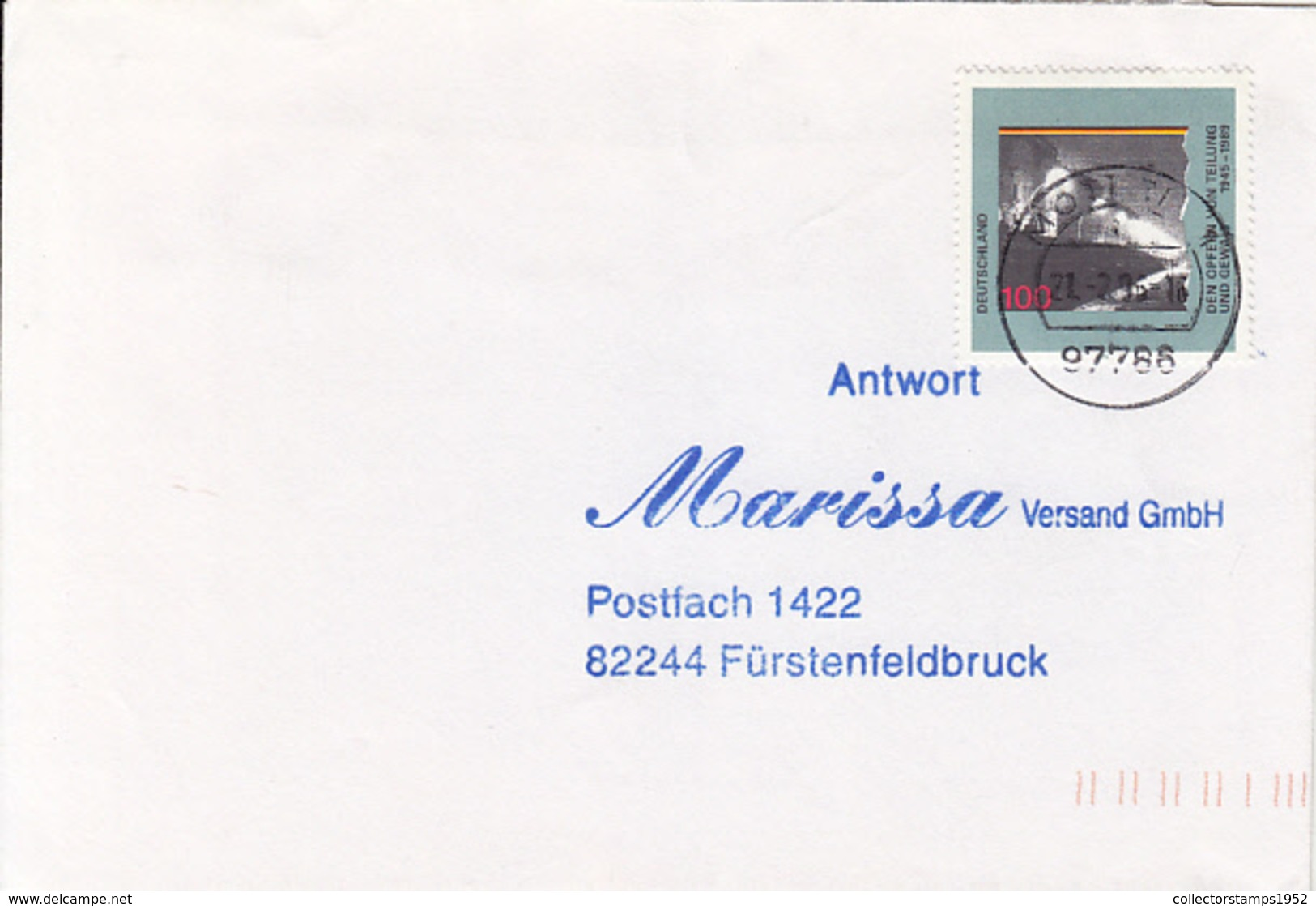 83930- VICTIMS OF GERMANY'S SPLITTING STAMP ON COVER, 1996, GERMANY - Storia Postale