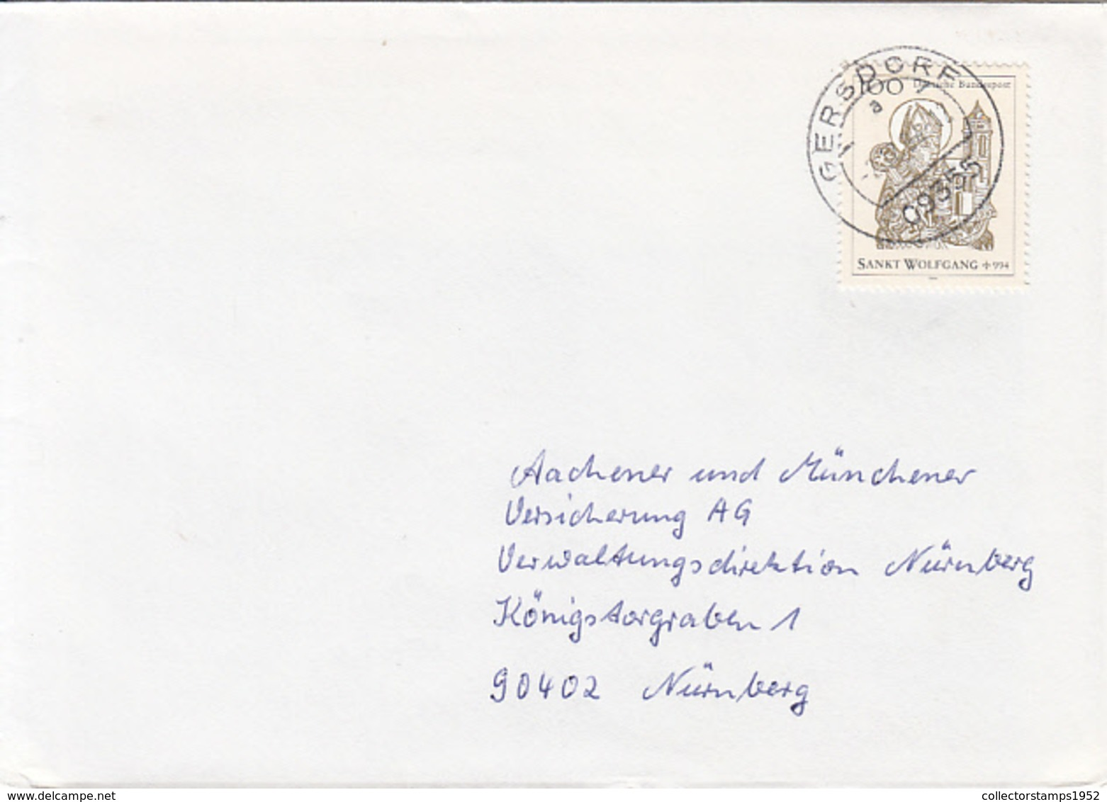 83932- ST WOLFGANG, STAMPS ON COVER, 1994, GERMANY - Storia Postale