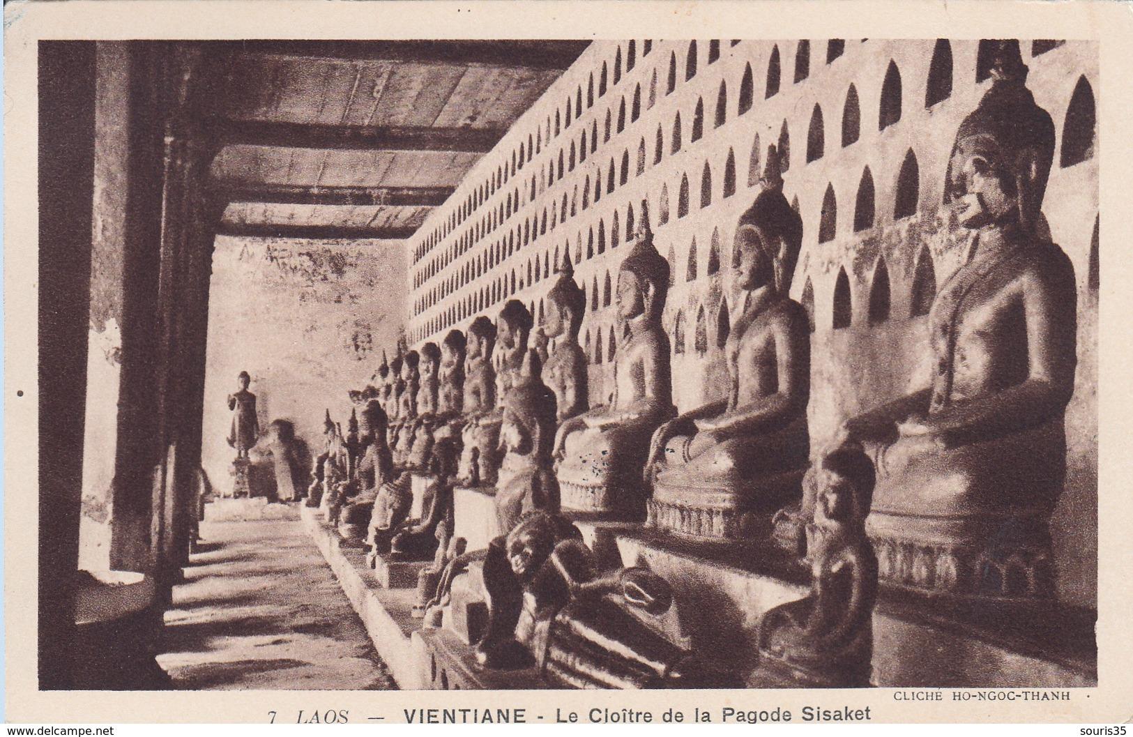 LAOS Vientiane - Cloître De La Pagode Sisaket 1949 - Laos