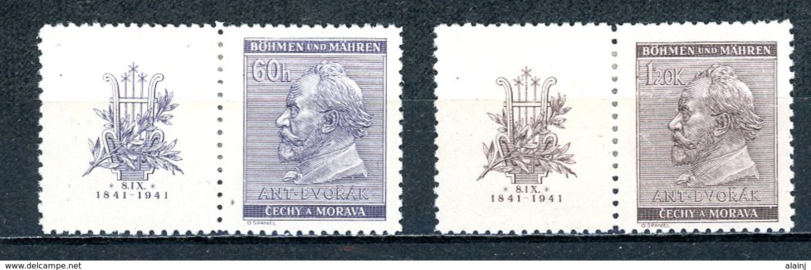 Böhmen & Mähren   ---   Y&T    63 - 64    X     Mi    73 - 74    ---    Faibles Charnières --   TTB - Oblitérés