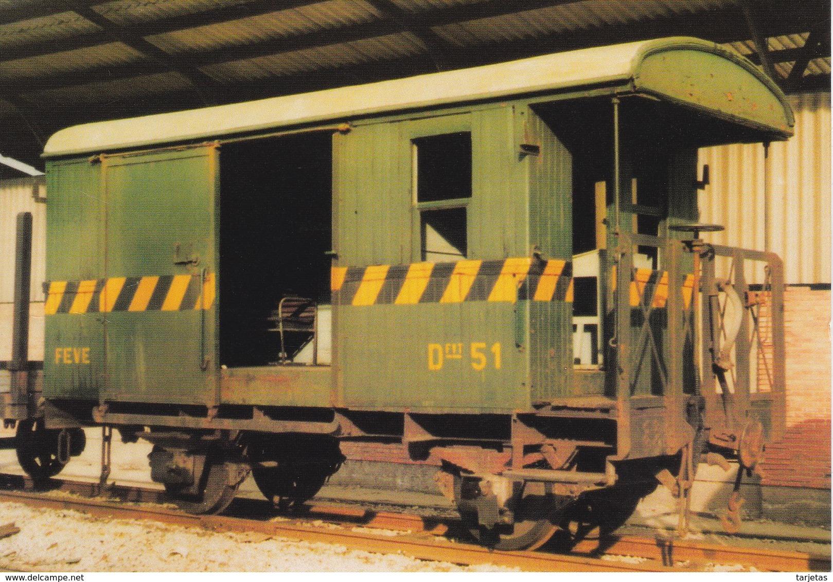Nº 777 POSTAL DE FURGON DE DOS EJES  (TREN-TRAIN-ZUG) AMICS DEL FERROCARRIL - Trenes