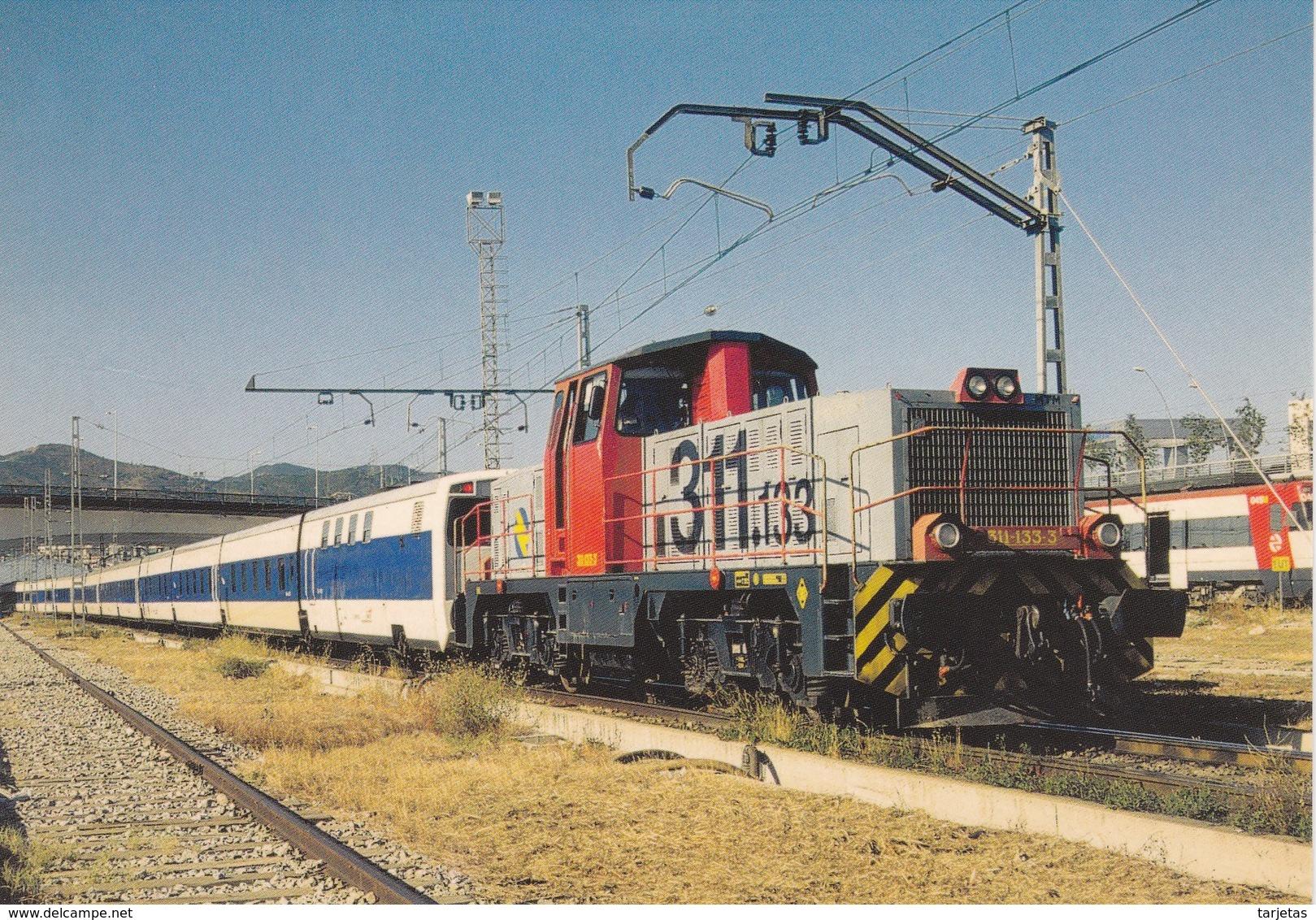 Nº 886 POSTAL DE LOCOMOTORA DIESEL ELECTRICA 311.133 EN SANT ANDREU COMPTAL (TREN-TRAIN-ZUG) AMICS DEL FERROCARRIL - Trenes