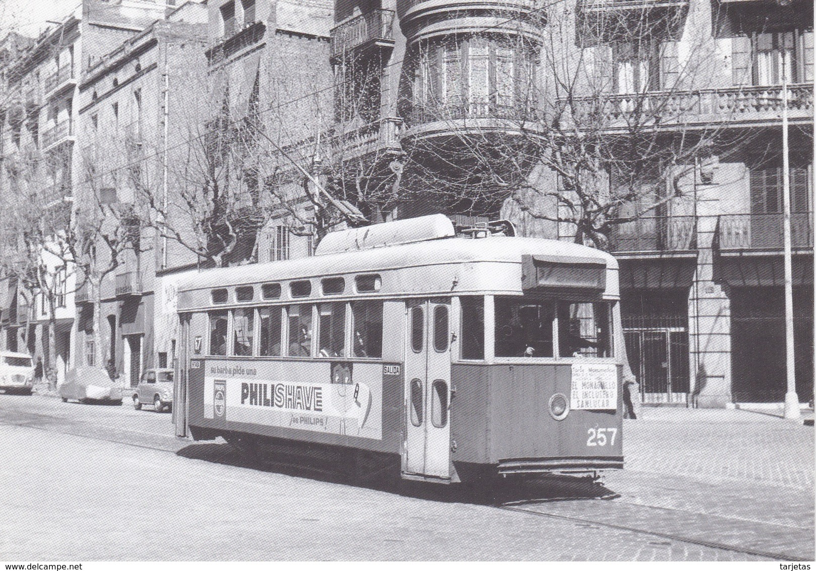 Nº 17 POSTAL DE TRANVIA DE BARCELONA SERIE 212-285 (TREN-TRAIN-ZUG) AMICS DEL FERROCARRIL - Tranvía