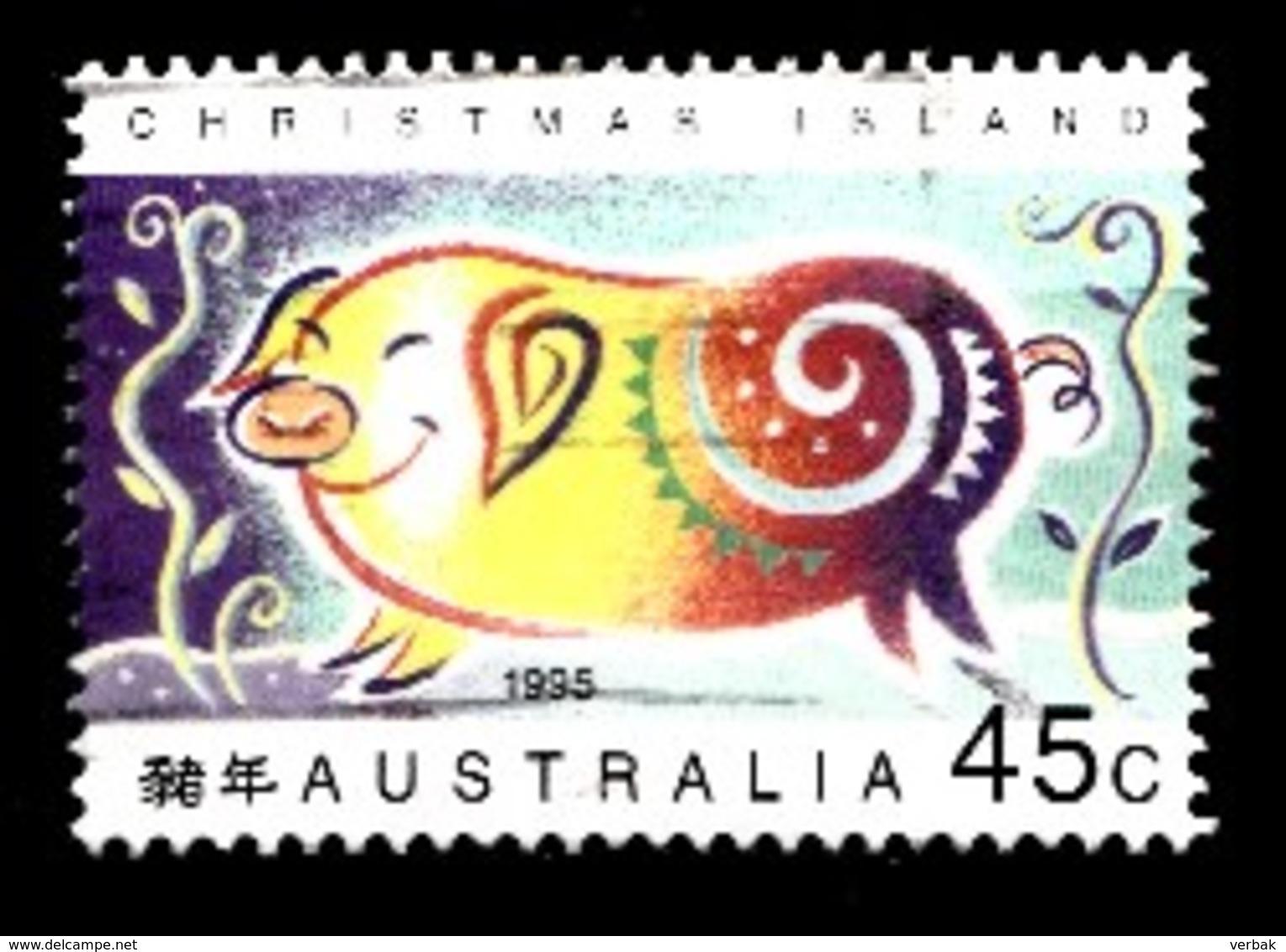 Christmas Island 1995 Mi.nr.:405 Jahr Des Schweines  Oblitérés / Used / Gestempeld - Christmas Island