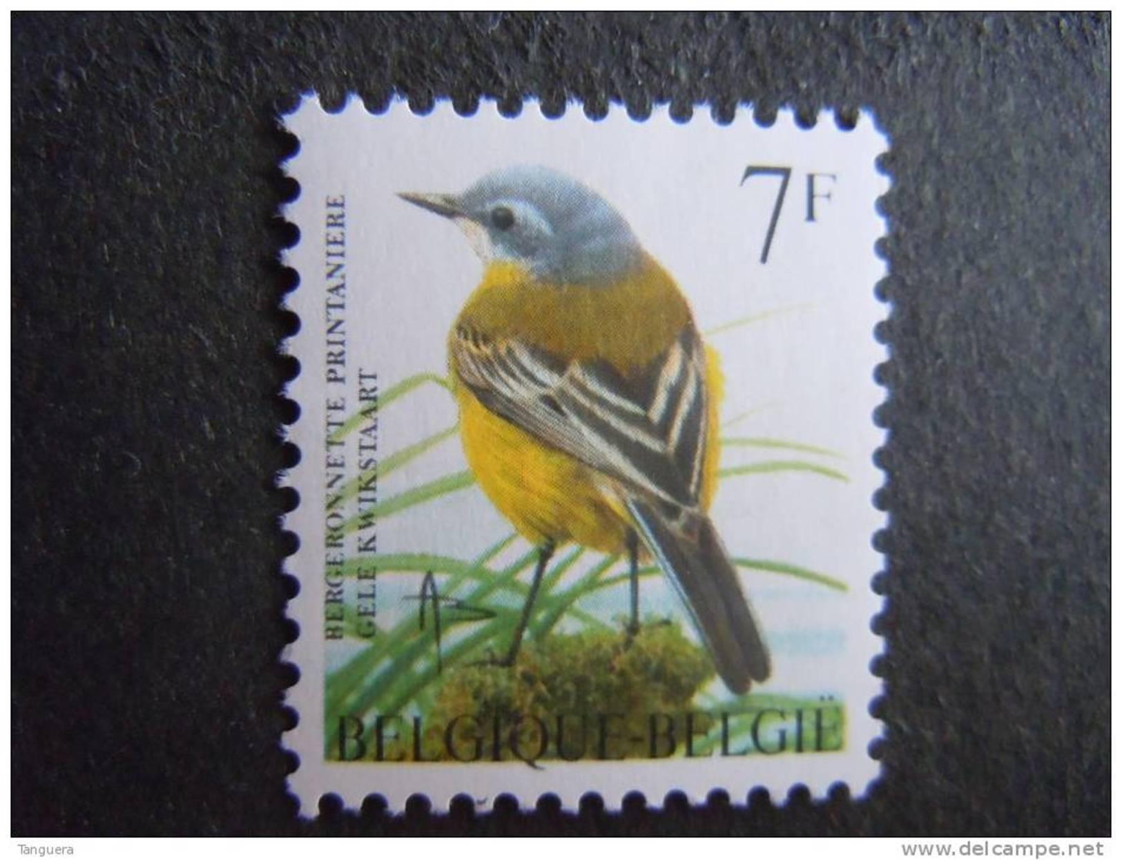 België Belgique Belgium 1997 Vogels Oiseaux Buzin Gele Kwikstaart Bergeronnette 2725 MNH ** - 1985-.. Vögel (Buzin)