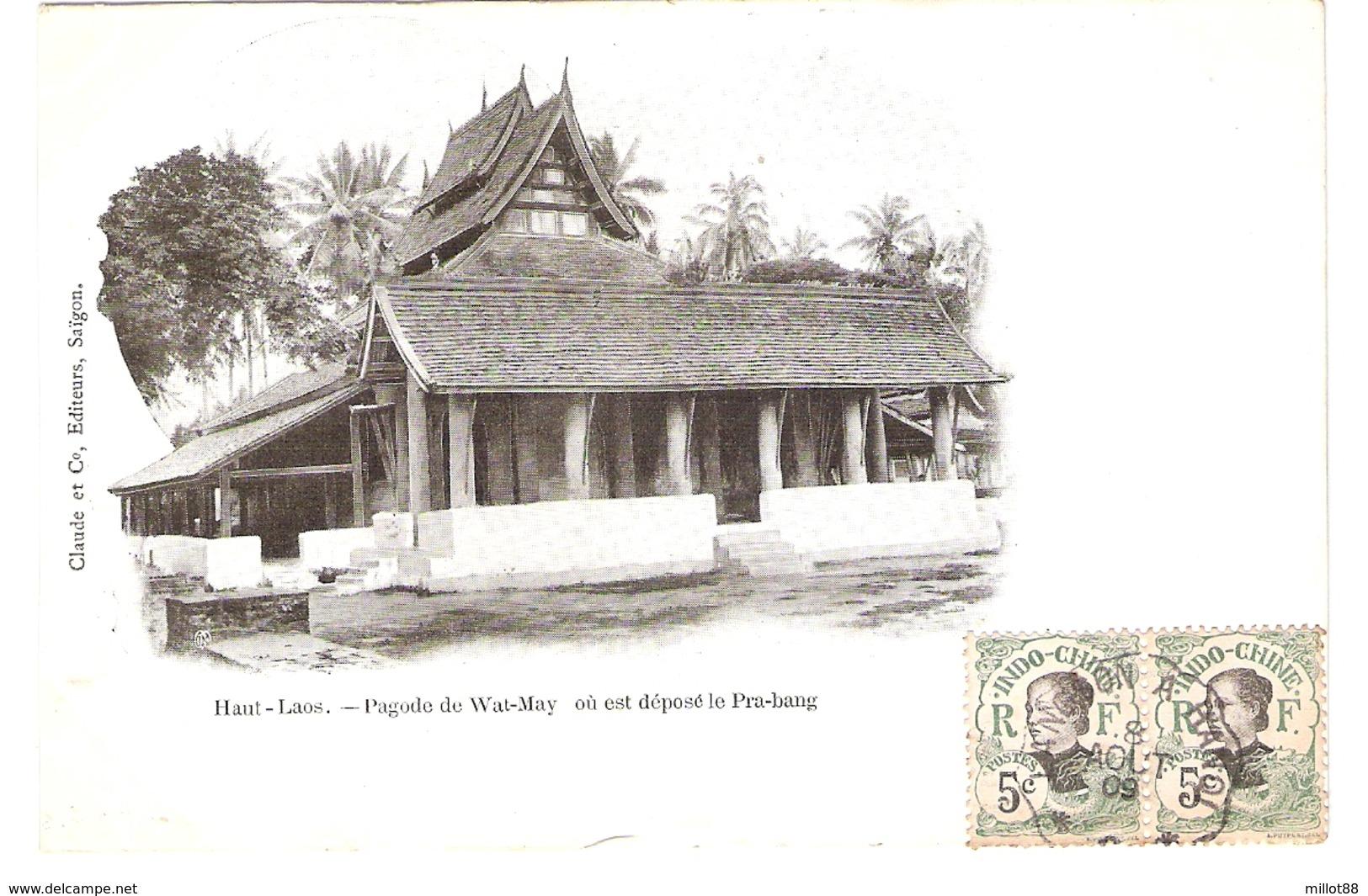 Cpa LAOS     Haut-laos   Pagode De Wat-may Ou Est Depose Le Pra-bang       -T- - Laos