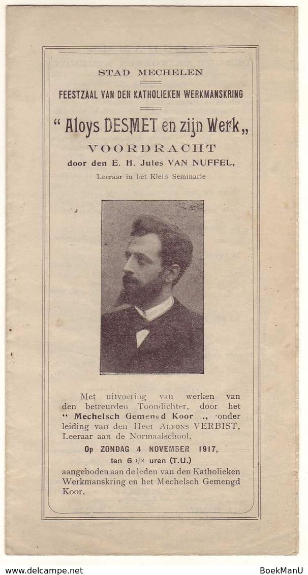 (Mechelen) 'Aloys Desmet En Zijn Werk' - Programmes