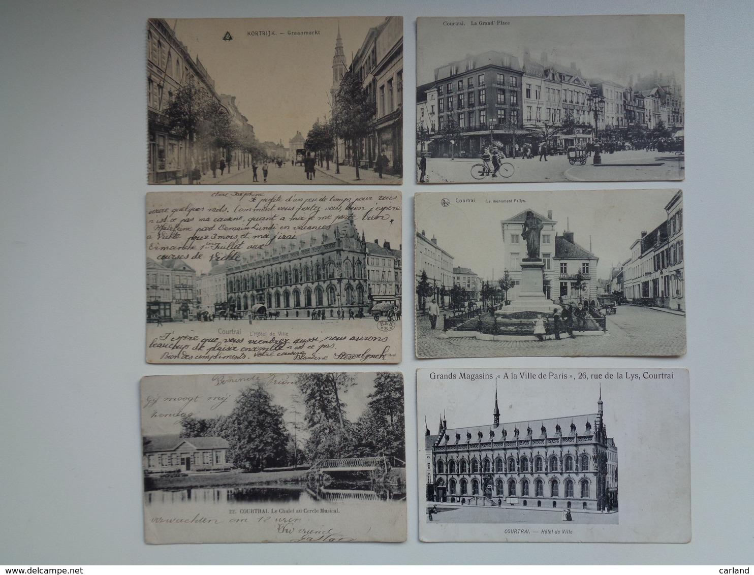 Beau Lot De 20 Cartes Postales De Belgique  Courtrai      Mooi Lot Van 20 Postkaarten Van België  Kortrijk - 20 Scans - 5 - 99 Postkaarten