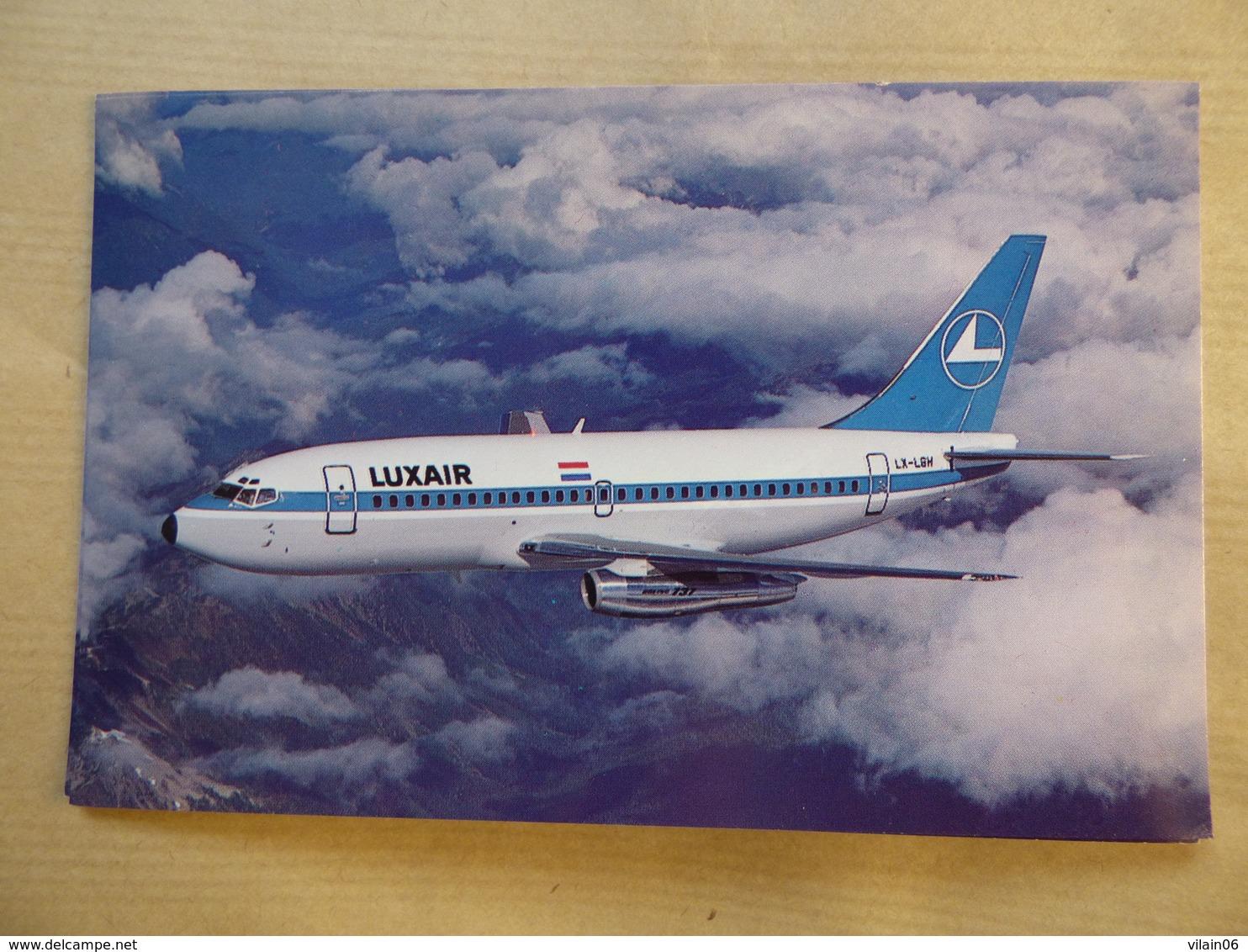 LUXAIR  B 737- 200   AIRLINE ISSUE / CARTE COMPAGNIE - 1946-....: Modern Era