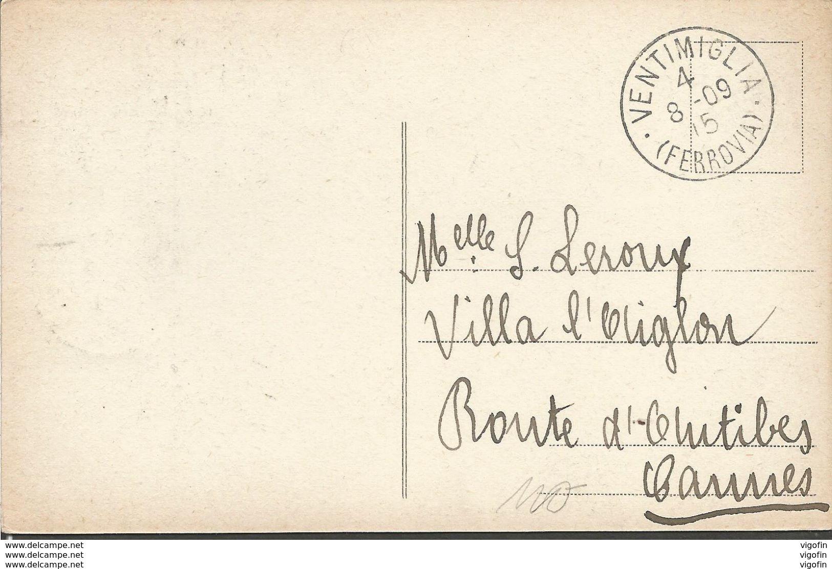 VENTIMIGLIA, LIGURIA ITALIA, PC, Circulated 1909 - Imperia