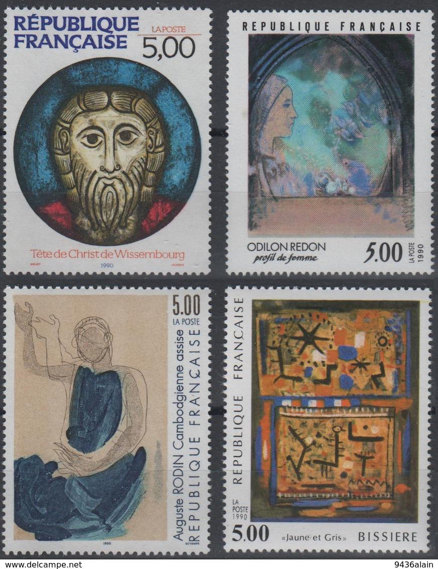 Artistique 1990, La Série Complète** N°2635, 2636, 2637, 2672 - Neufs