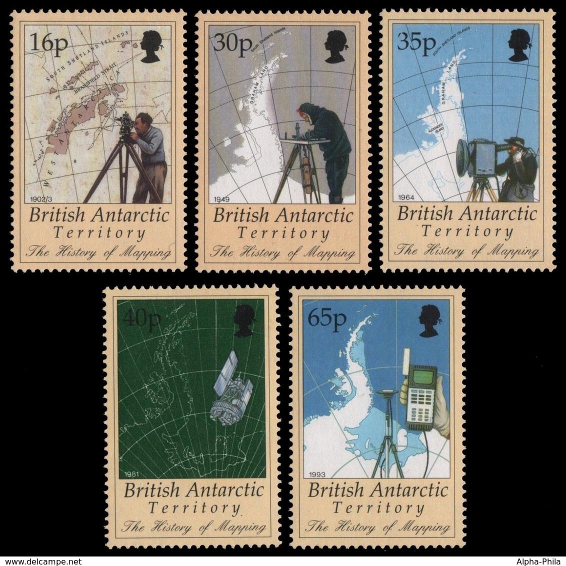 BAT / Brit. Antarktis 1998 - Mi-Nr. 267-271 ** - MNH - Kartographie - Britisches Antarktis-Territorium  (BAT)