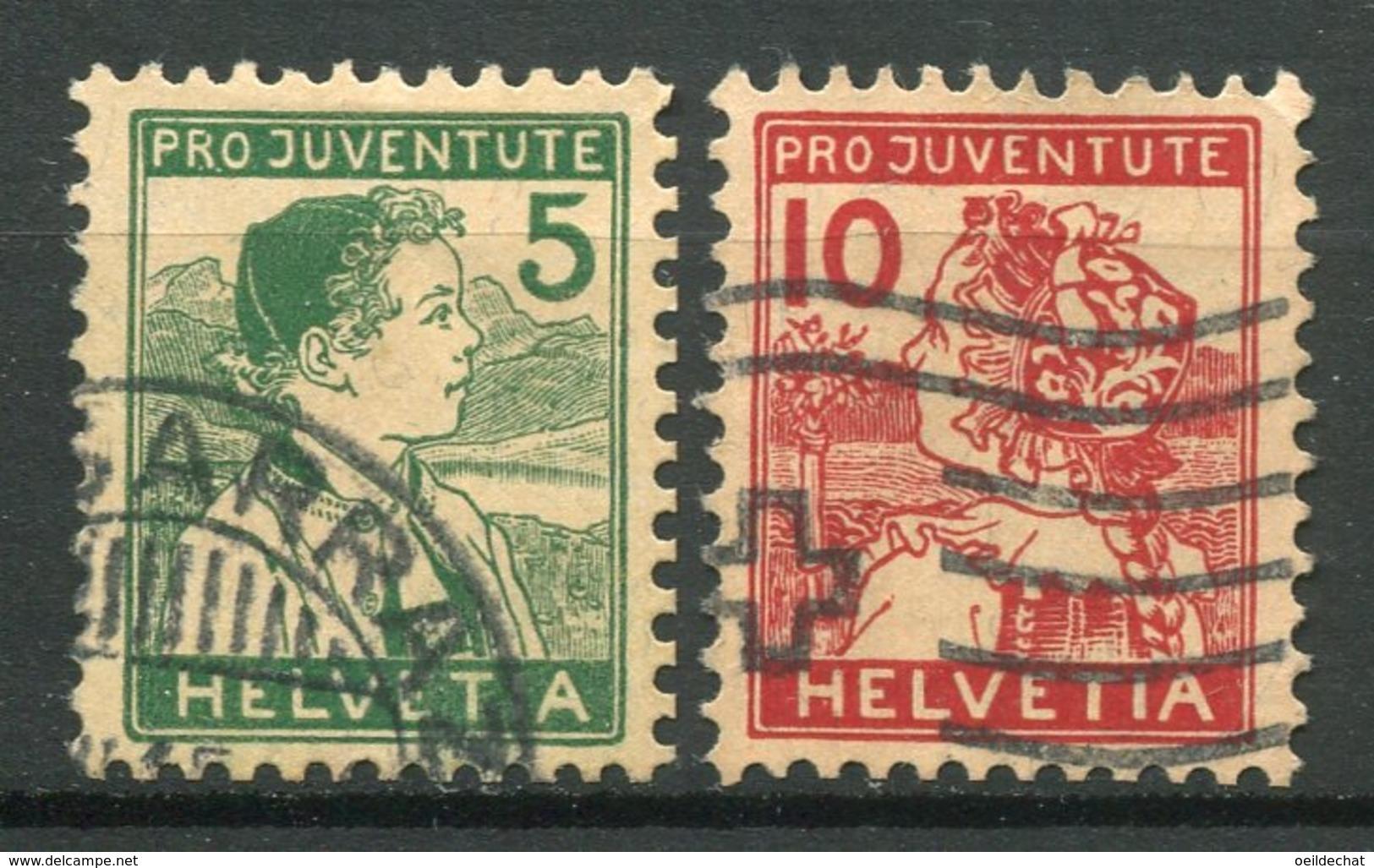 15896 SUISSE N°149/50°  Pro Juventute 1915   TB - Pro Juventute