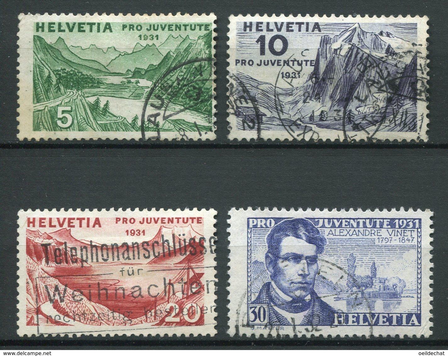 15908 SUISSE  N°250/3°   Pro Juventute 1931   B/TB - Pro Juventute