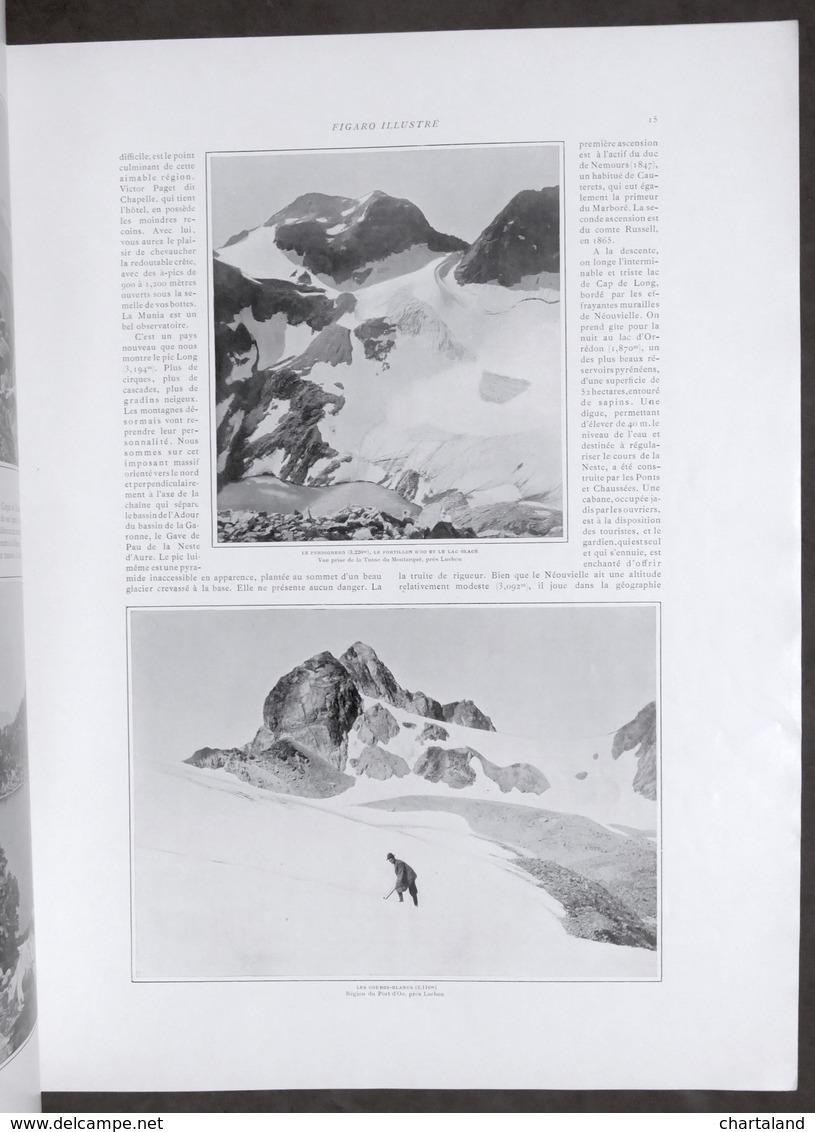 Rivista D'epoca - Figaro Illustrè - N. 137 - Agosto 1901 - Les Pyrenées - Libri, Riviste, Fumetti