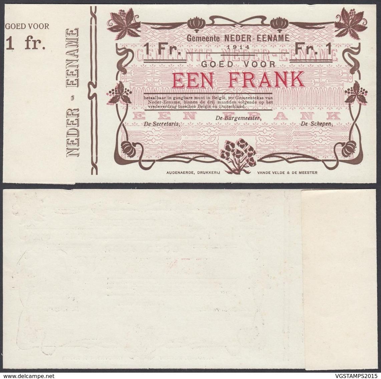 BELGIQUE 1914 BILLET DE NECESSITE DE AUDENAERDE 1 Fr (DD) DC-5017 - Autres