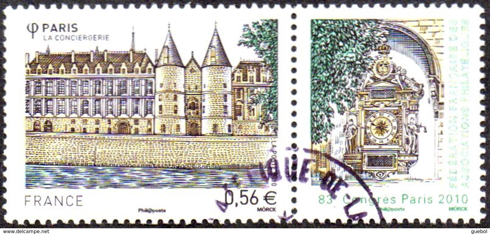 France Oblitération Cachet à Date N° 4494 - Monument à PARIS - La Conciergerie - 83ème Congrès De La FFAP - Frankreich