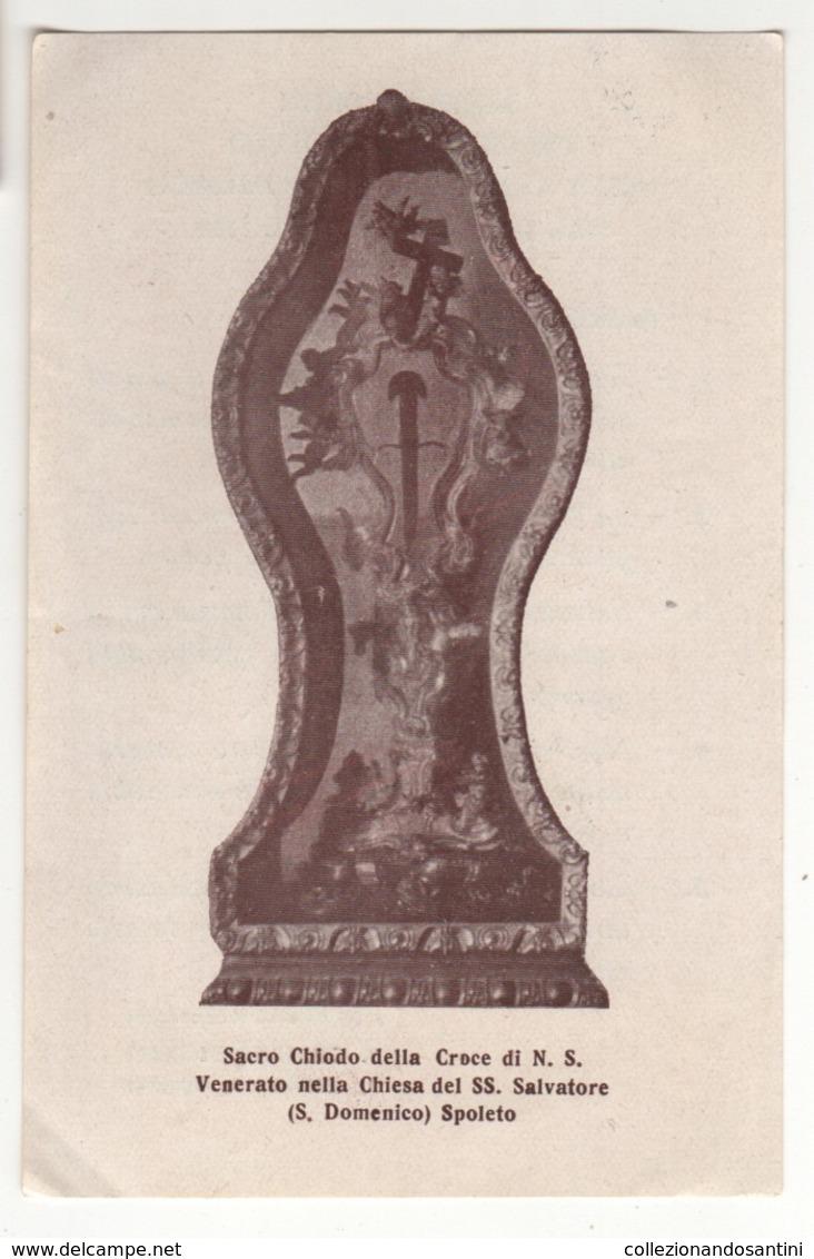 Santino Antico 1934 Chiodo Della Croce Di Gesù Cristo Da Spoleto - Religion & Esotérisme