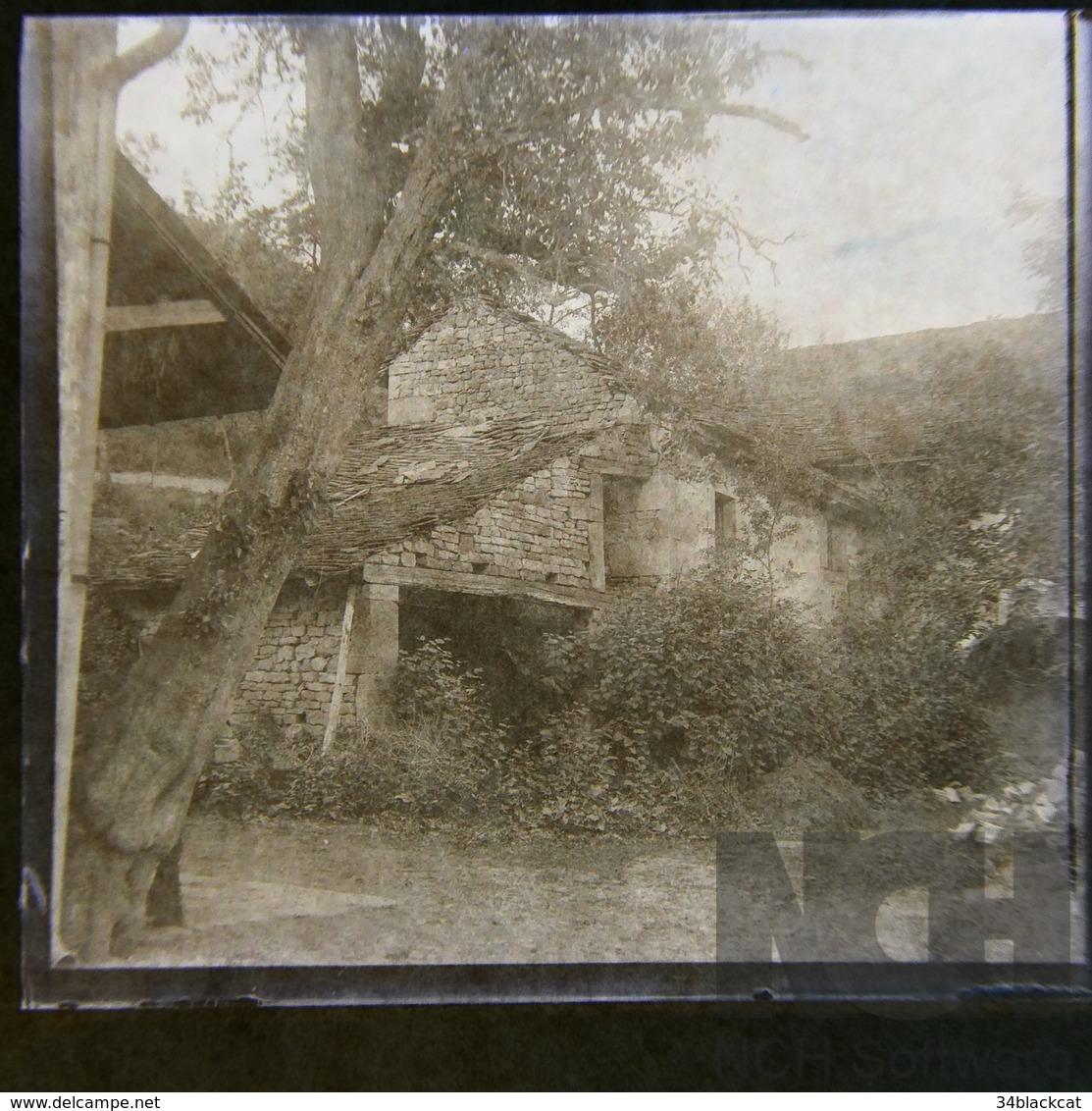 VOSGES  , Négatif 10,   Moulin, Négatif Photo Sur Ancienne Plaque En Verre - Glasplaten