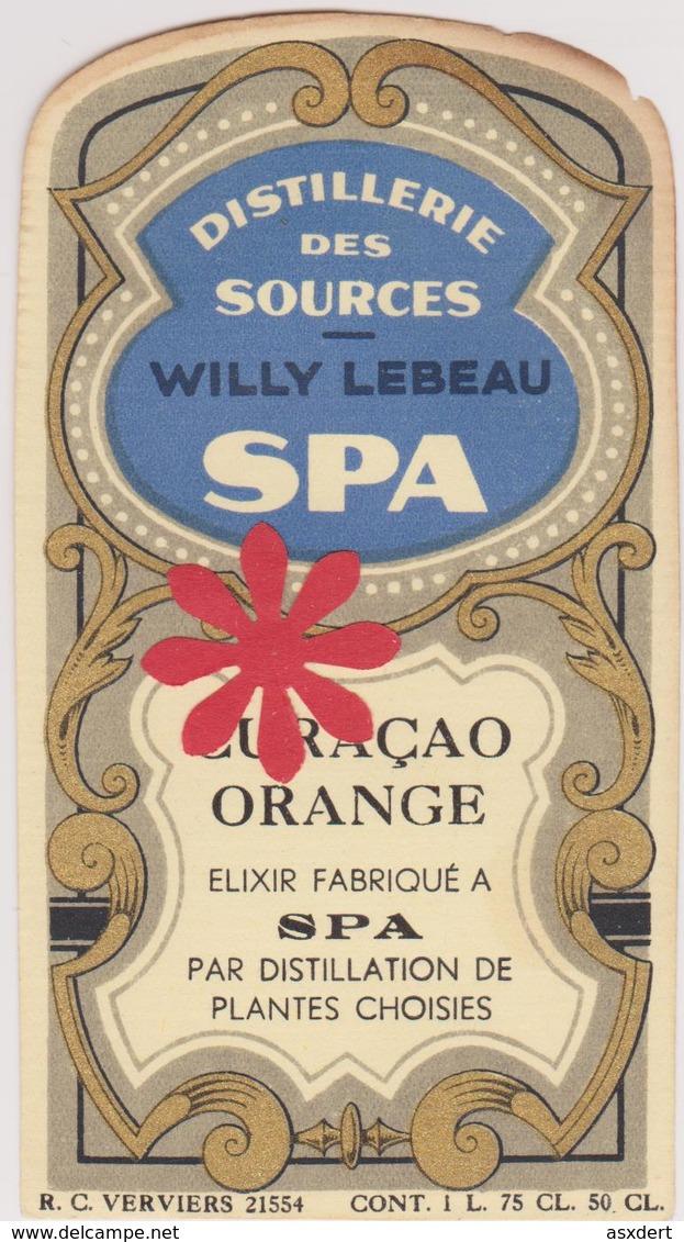 Distillerie Des Sources W. Lebeau Spa 'Curacao Orange' Elixir. Belgique - Non Classés