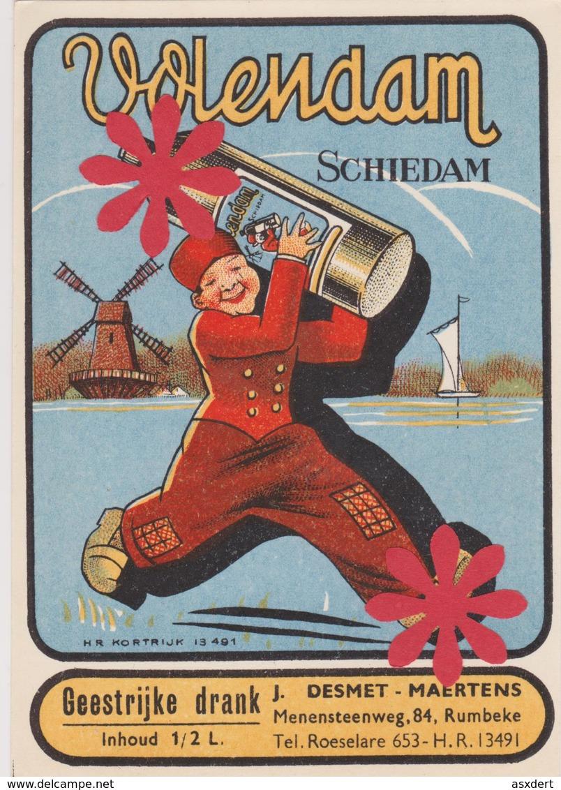 Distillerie Stokerij Desmet-Maertens 'Schiedam' Rumbeke / Roeselare. 1/2 L. Belgique - Non Classés