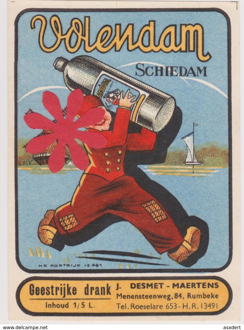 Distillerie Stokerij Desmet-Maertens 'Schiedam' Rumbeke Roeselare. 1/5 L. Belgique - Autres Collections