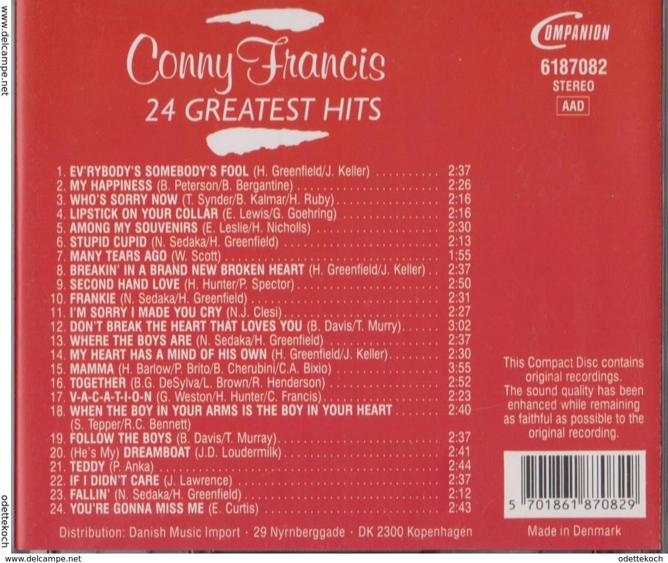 CD De  CONNY  FRANCIS - Disco, Pop