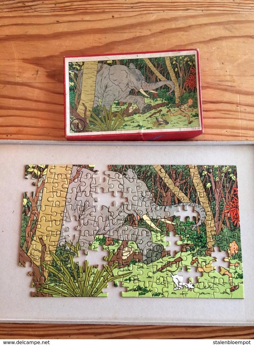1 Puzzles Tintin Au Congo - 1 Oude Kuifje Puzzel - Kuifje