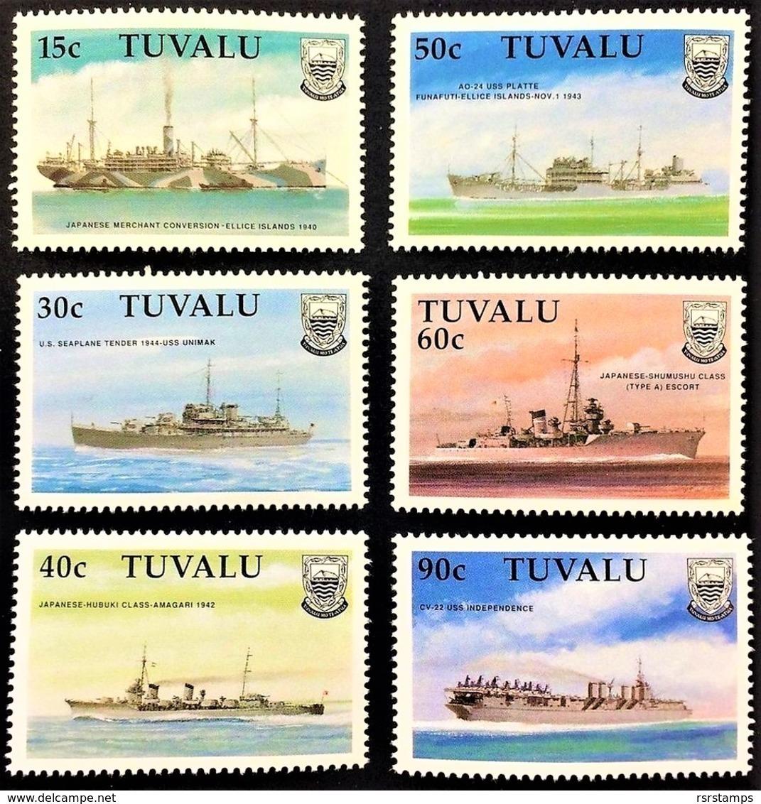 # Tuvalu 1990**Mi.564-69  Ships In World War II , MNH [21;85] - Schiffe