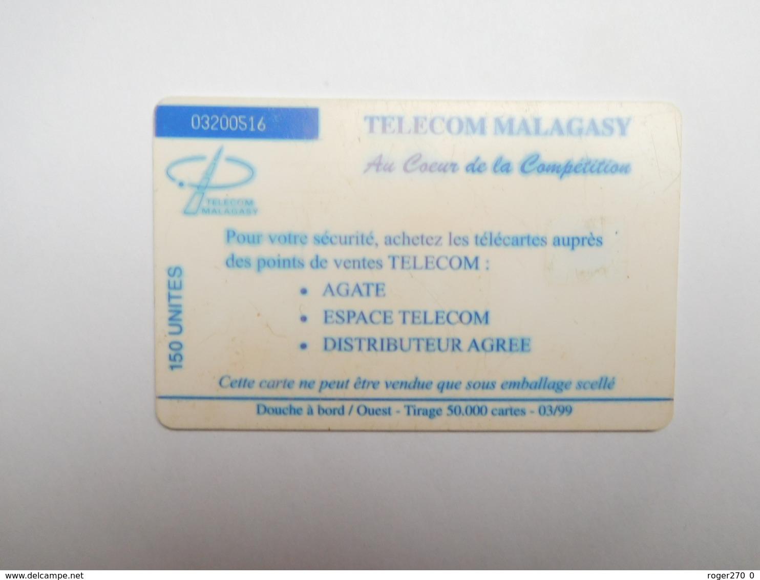 Télécarte Publique , Madagascar , Télécom Malagasay - Madagascar