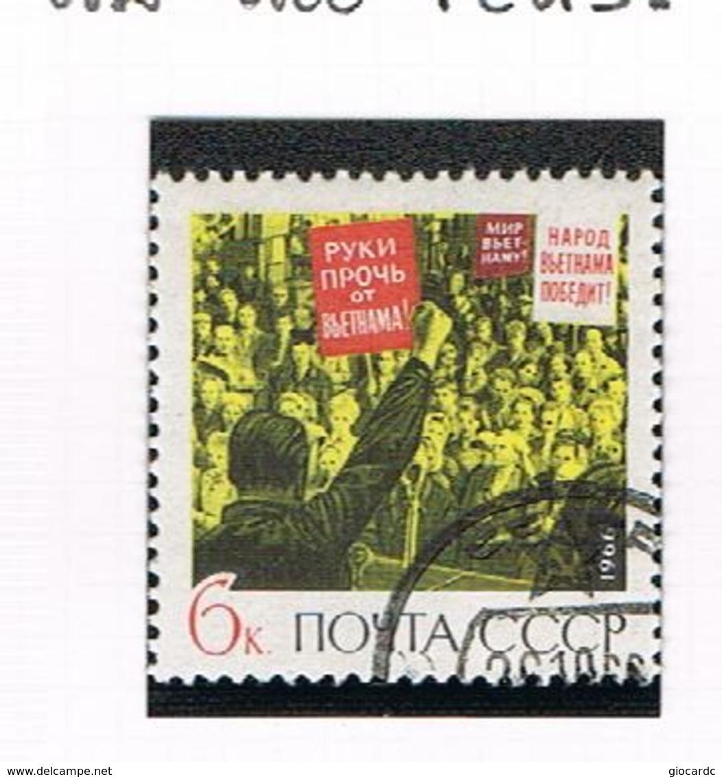 URSS -   SG 3360   - 1966 HANDS OFF VIETNAM  -  USED°  - RIF. CP - 1923-1991 USSR