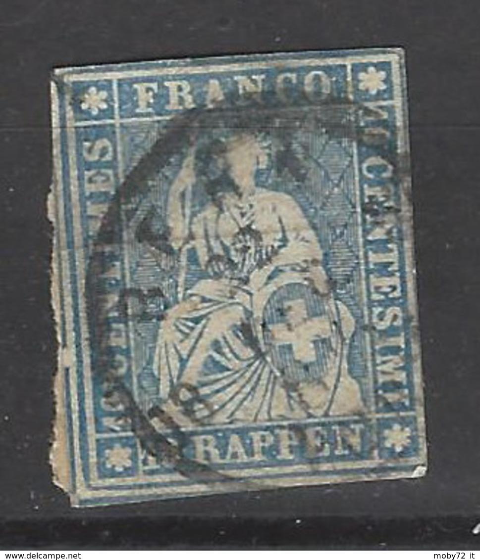 Svizzera - 1854 - Usato/used - Helvetia - Mi N. 14 - Gebruikt