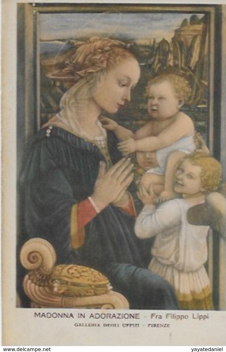 CPA BOTICELLI La Vierge L'Enfant Et Saint Jean - Museum