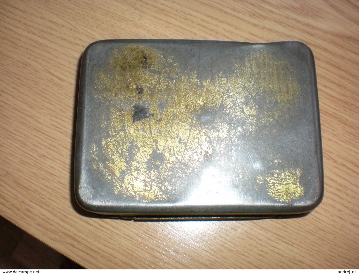 Old Tin Box Navy Cut Feinsterheller Feinschnitt Carl Wilh. Carstanjen Duisburg - Empty Tobacco Boxes