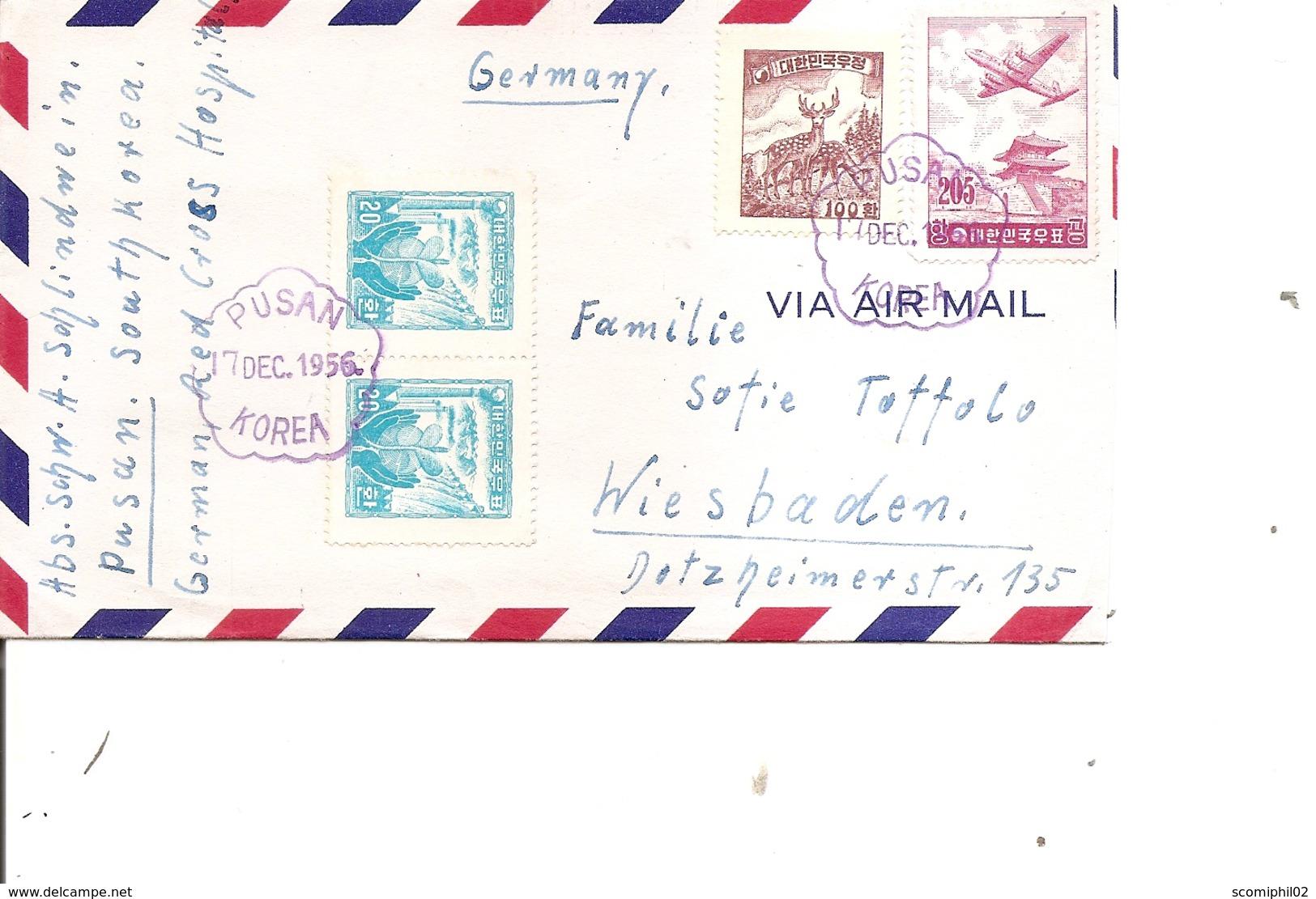 Corée Du Sud ( Lettre De 1956 De Pusan Vers L'Allemagne à Voir) - Korea, South