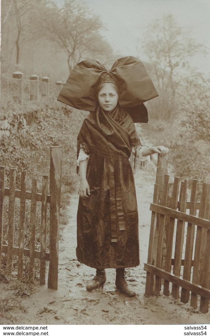 67) Carte-Photo - Portrait D'une Alsacienne En Costume Traditionnel (Ca 1910) - France