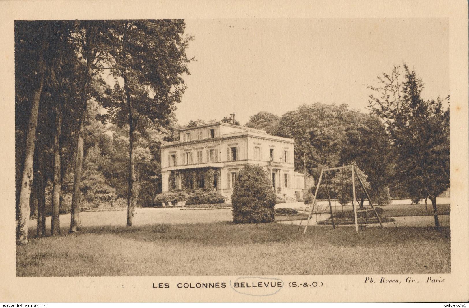 92) BELLEVUE MEUDON : Les Colonnes - Tarif Cartes Postales Rosen Au Verso - Meudon