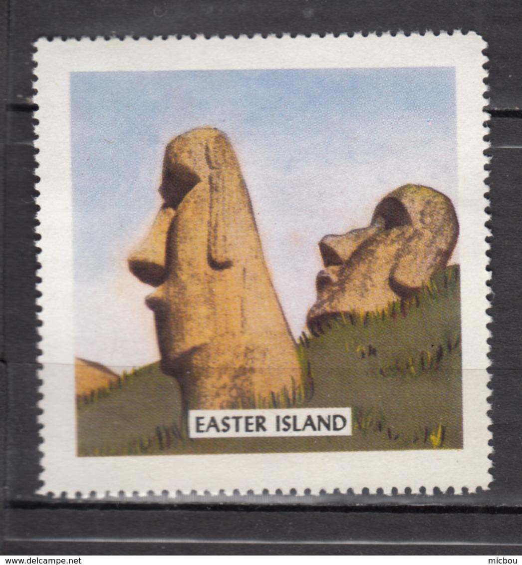 Vignette, Cinderella, île De Pâques, Easter Islande, Moaï, Antiquité, Antiquity, Préhistoire, Prehistory - Monumenten