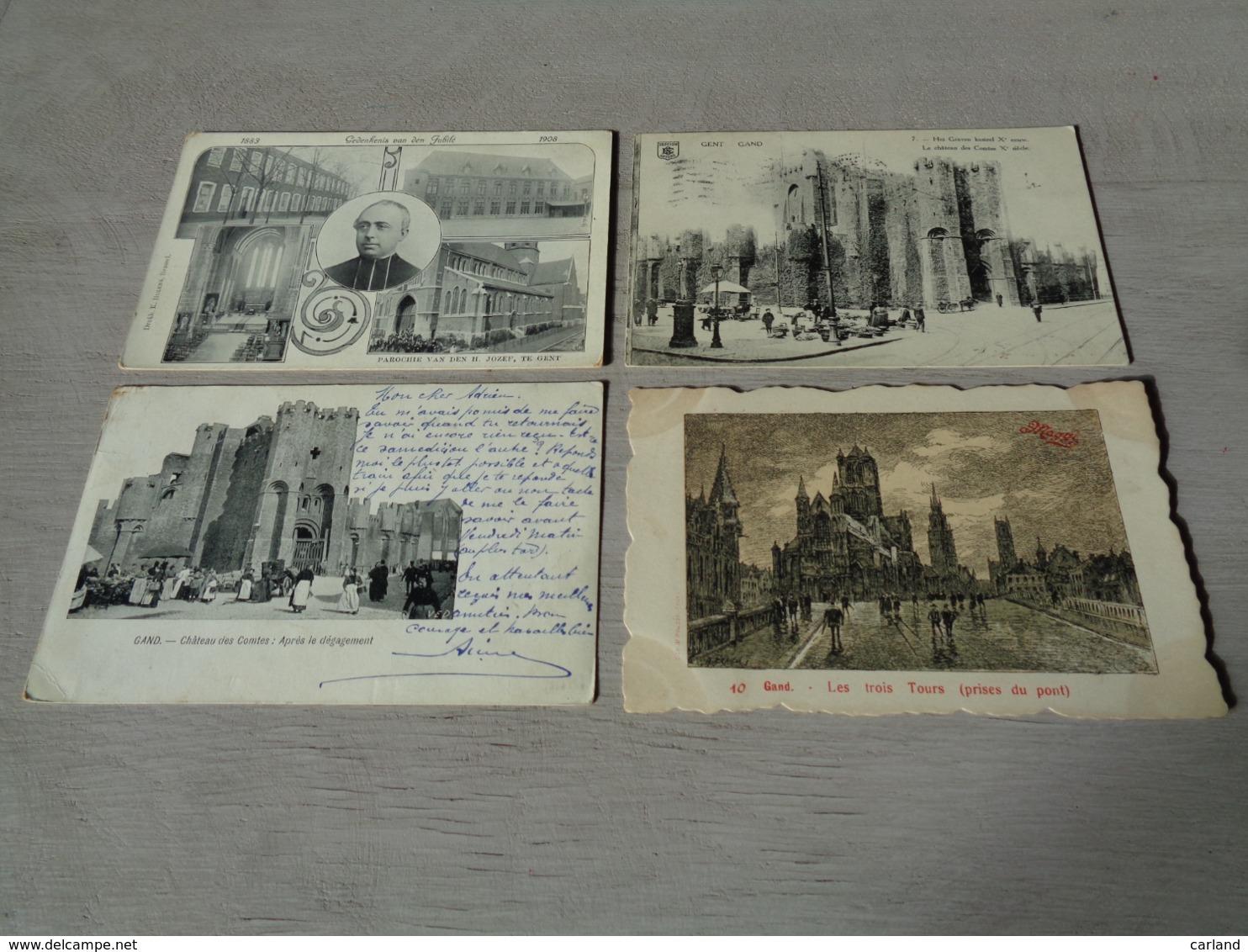 Beau Lot De 20 Cartes Postales De Belgique  Gand     Mooi Lot Van 20 Postkaarten Van België  Gent  - 20 Scans - 5 - 99 Cartes