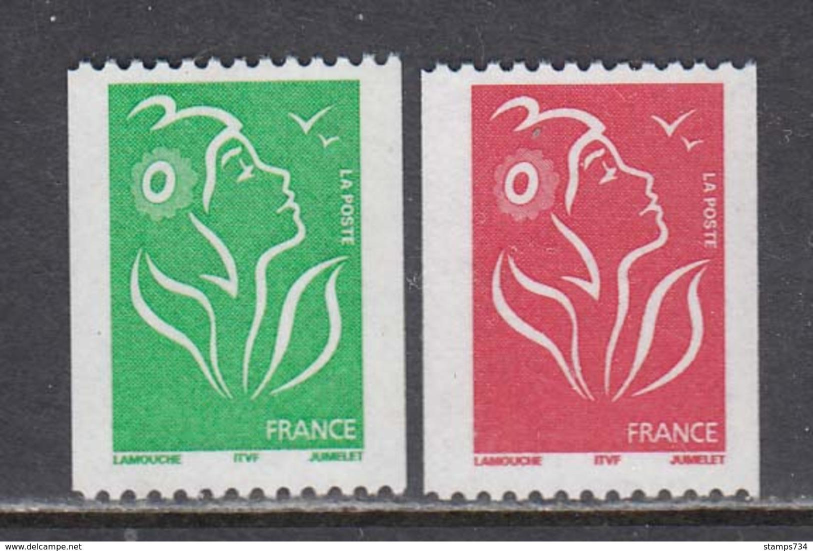France 2005 - Serie Courante:Marianne(Lamouche), 2 V.,YT 3742/43, Neufs** - France