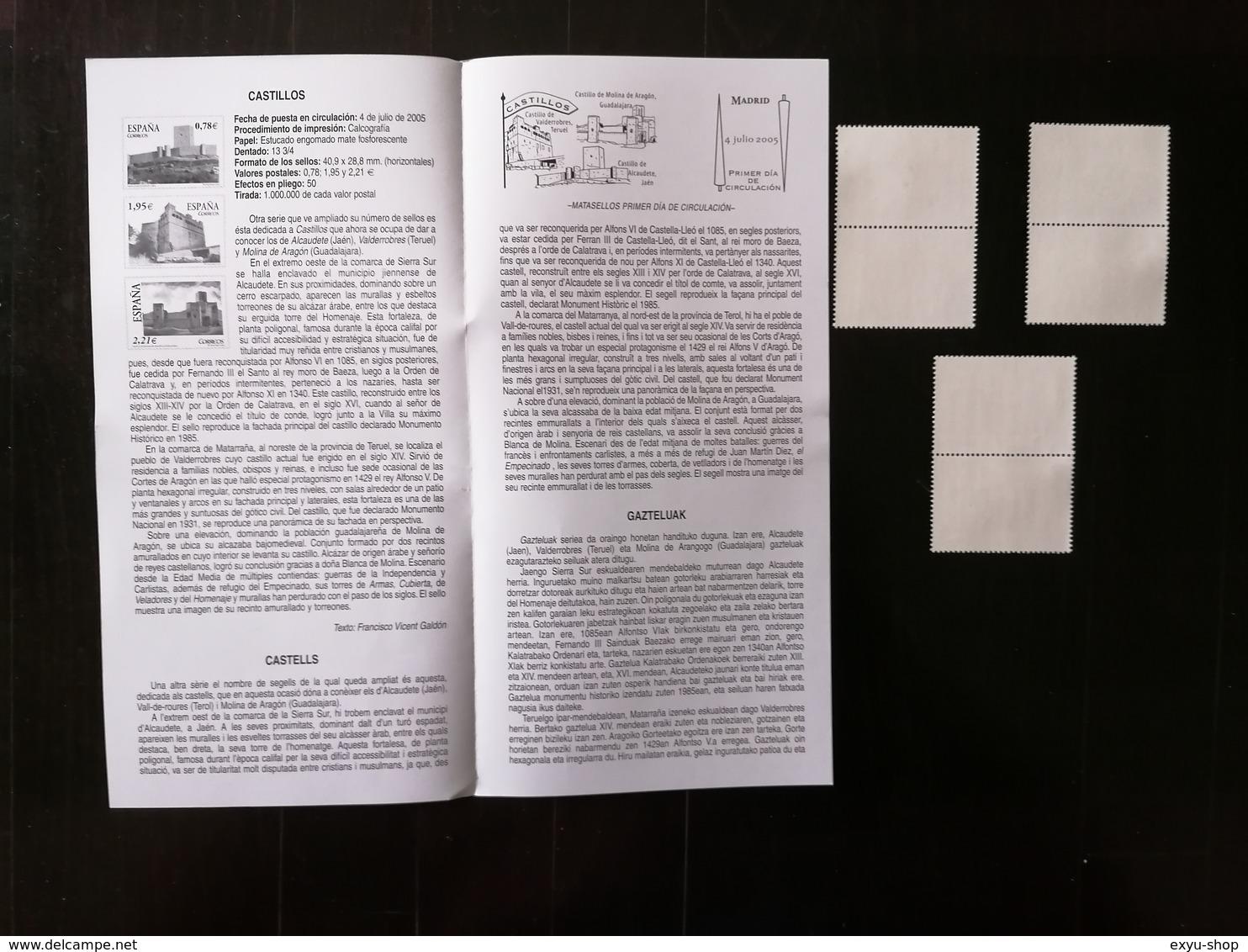SPAIN 2005 - CASTILLOS - CASTLES - 2001-10 Unused Stamps