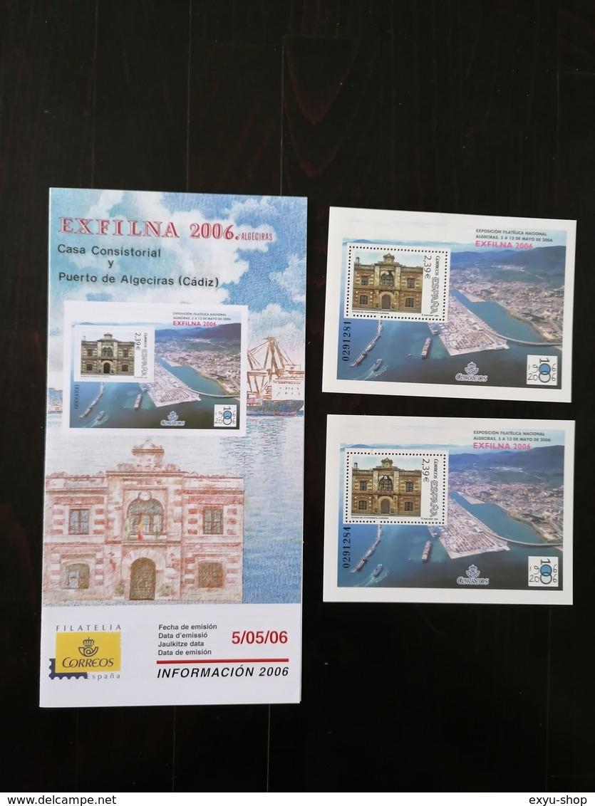 ESPANA 2006 - SPAIN - EXFILNA 2006 CASA CONSISTORIAL Y PUERTO DE ALGECIRAS - CADIZ - 1931-Today: 2nd Rep - ... Juan Carlos I