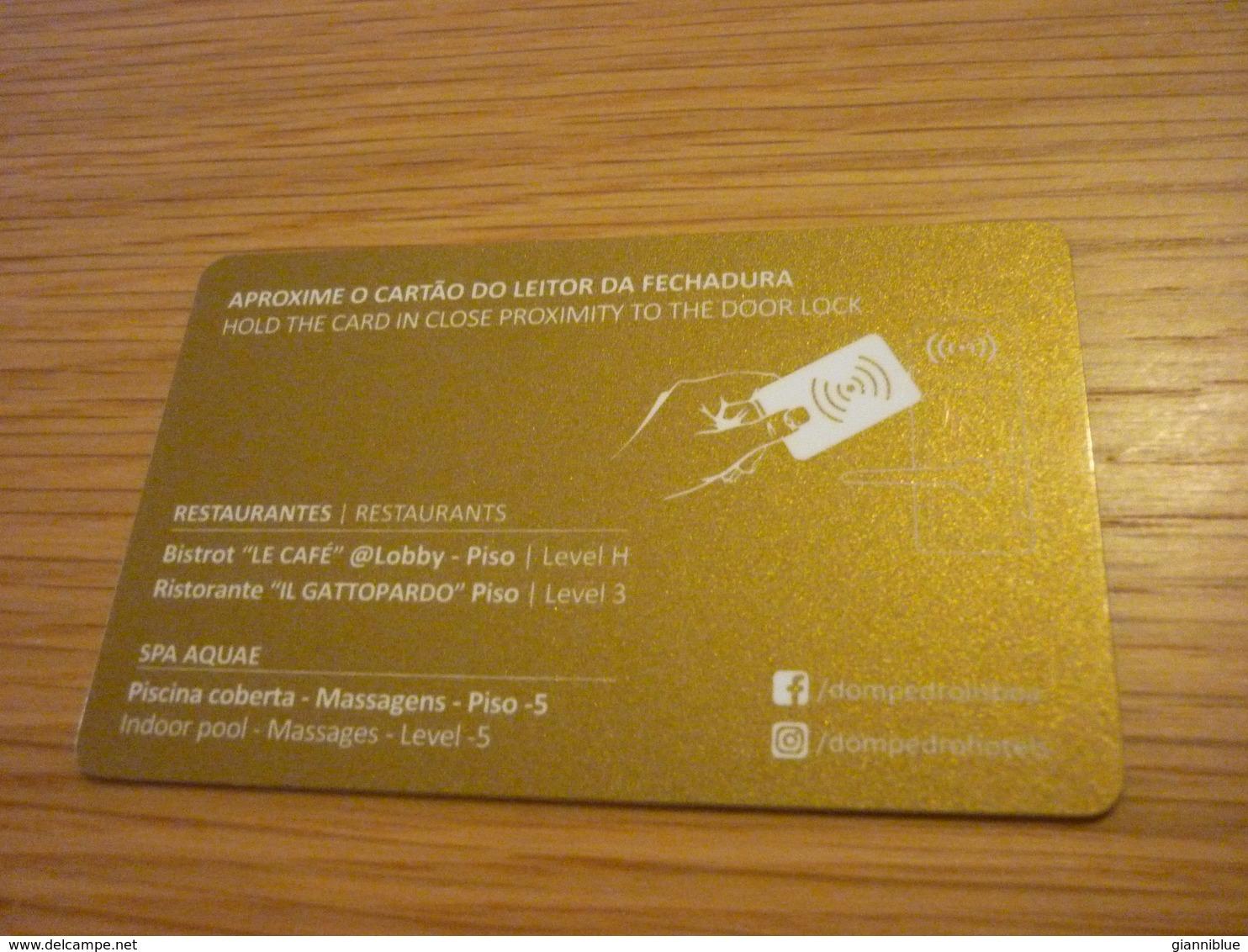 Portugal Lisboa Dom Pedro Hotel Room Key Card (horse Cheval) - Cartas De Hotels