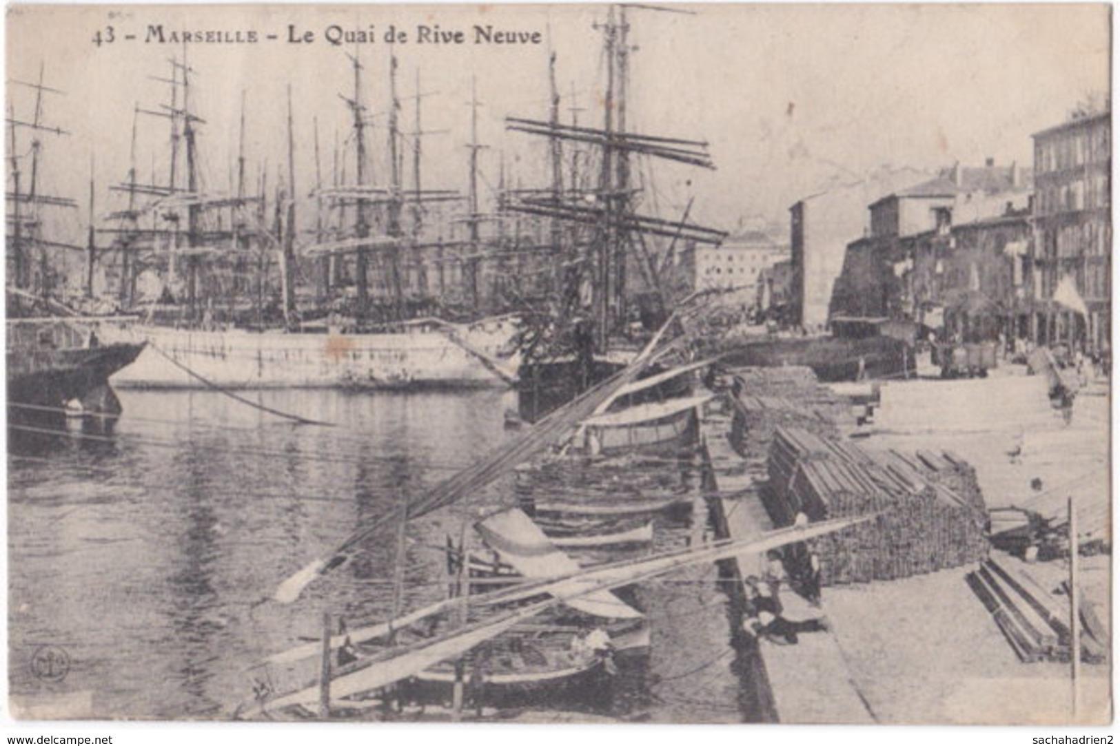 13. MARSEILLE. Le Quai De La Rive Neuve. 43 - Unclassified