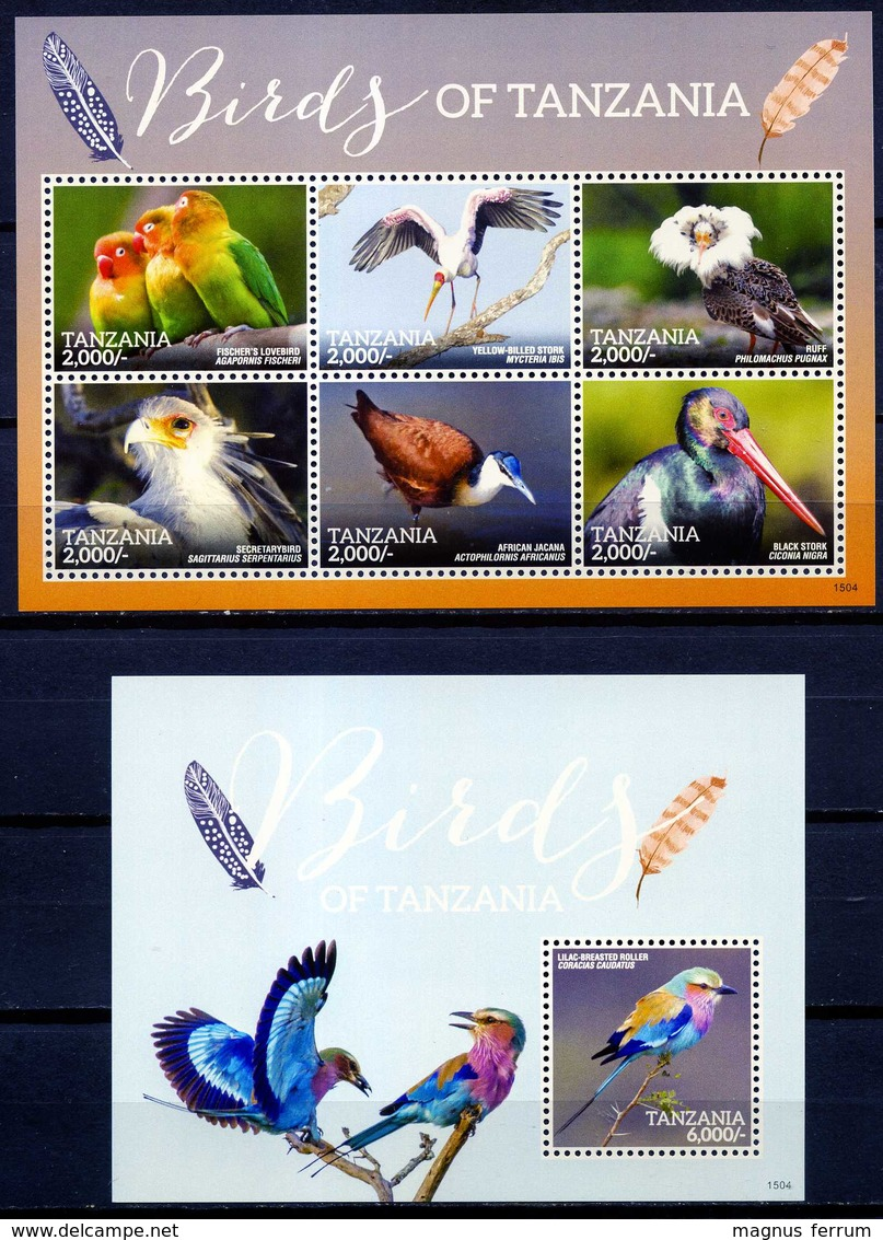 2015 Tanzania Fauna, Birds, SS+ Sheet, MNH - Birds