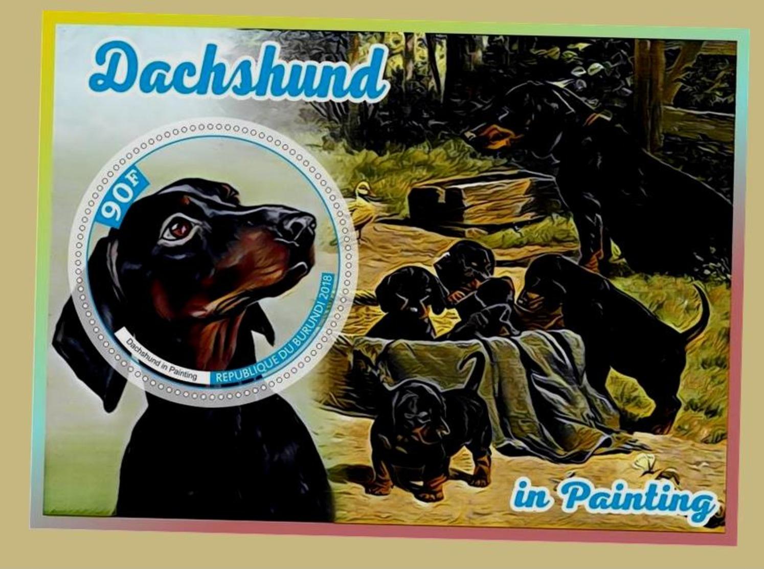 Chiens Timbrе De Stаmp Teckel - Dogs