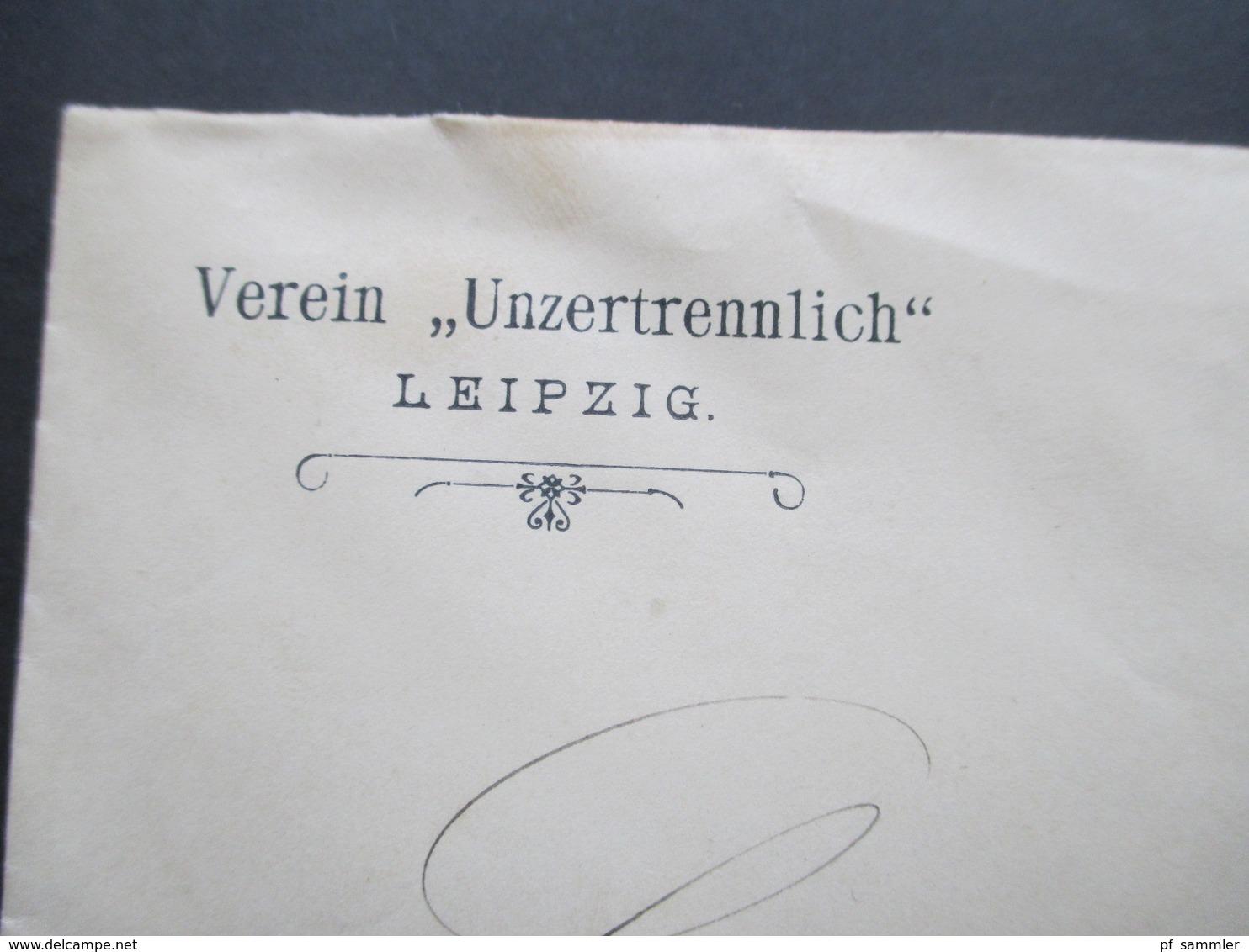 Krone / Adler Nr. 52 EF Umschlag Des Verein Unzertrennlich Leipzig Nach Möckern An Einen Referendar In Freiwilligen Inf. - Germany