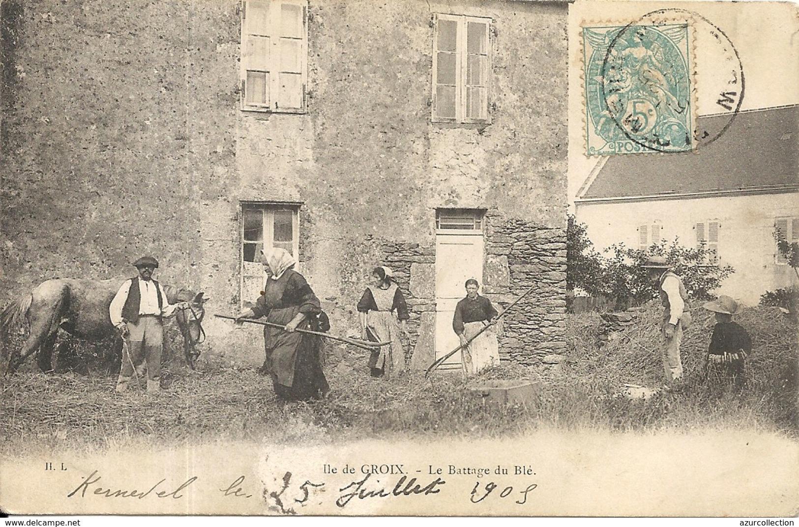 LE BATTAGE DES BLES - Groix
