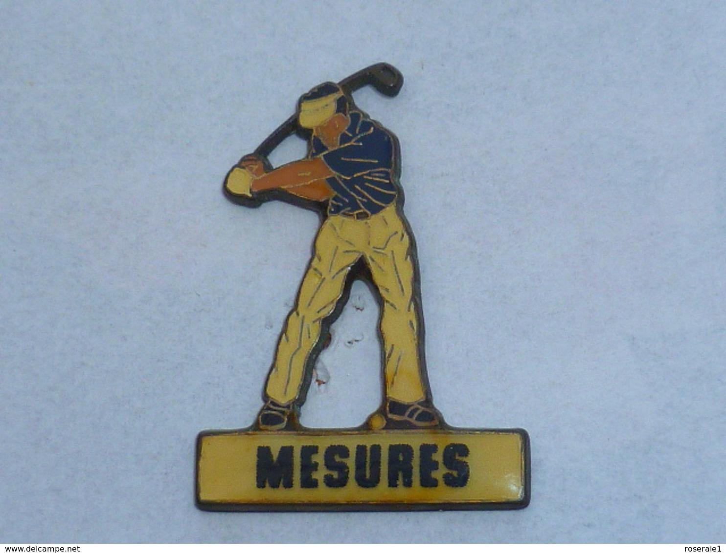 Pin's GOLFEUR MESURES - Golf