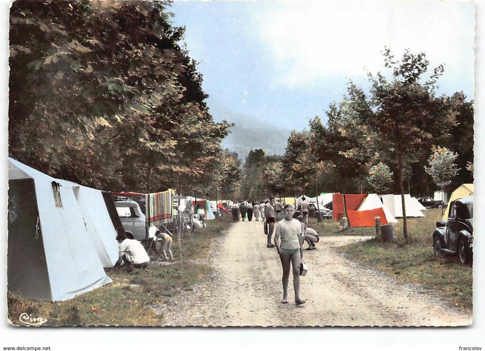 Lac D'Aiguebelette. Camping.  CPSM Edit Cim. Postée 196? - Frankreich